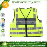 Fluorescent Hi vis motorcycle protective workwear safety vest 3m high visibility tape Reflective Vest