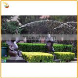 Bronze Animal Water Fountain Sculpture Metal Elephant Water Fountain Statue