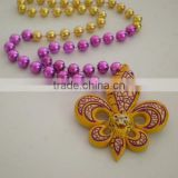 Wholesale Round Beads Mardi Gras Beads Necklace Poly Medallion Beads