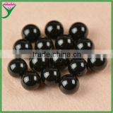brazilian wholesale round beads natural fire black agate rough stone