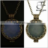 Unisex Noctilucence Round Sun Pendant Necklace Glow in the Dark Length Adjustable