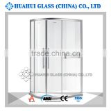 stylish sliding tempered glass shower enclosure for bathroom with CE ANSI ISO AS/NZS 2208