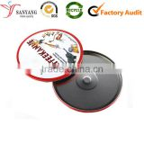Round metal tin box for CD record album storage packaging box                                                                                                         Supplier's Choice
