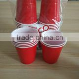 16 oz Red Party Cups, red plastic party cup plastic party cups for water, two tone cup                                                                         Quality Choice