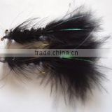 Dog nobbler black Streamer trout fishing flies