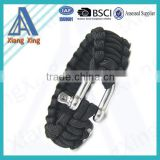 Firestarter Plastic Whistle Side Release Buckle Para Cord cheap survival bracelet 550 paracord