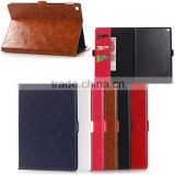 Luxury Oil PU leather wallet case for iPad air 2