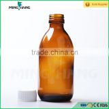 200ml Oral liquid syrup pharmaceutical medical round amber glass bottle with lid