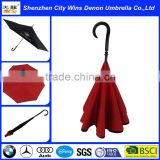 Chinese imports wholesale reverse inverted umbrella with stand on its own function