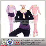 Ladies low collar bamboo yoga wear new style