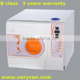 18Liters Medical Dental autoclave steam sterilizer B class with CE ISO 13485 3 years warranty