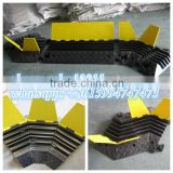 rubber road hump, rubber speed ramps, road speed ramps, vehicle speed bumps,traffic road bump