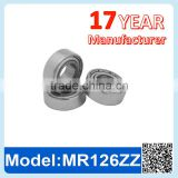 MR126 ZZ RS Miniature Ball Bearing Deep Groove Ball Bearing
