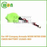 CMOS battery with two wires two pin connector battery for HP Compaq Armada M300 M700 E500 CMOS BATTERY 152605-003