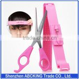 Home Bang Artifact Styles Clipper Comb Fringe Cut Set Stainless Steel Scissor Cutting Hairs Tools