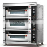 6 trays modular electric oven with three decks ideal for baking pizza/bread/cake/cookies