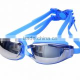 High quality factory price waterproof anti fog swimming glasses, swimming goggles electroplated design