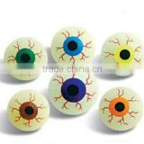 Promotional Toy,toys Style and solid rubber ball Eyes crystal bouncing ball, bouncy ball with eyes