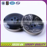 Plating finish blue plastic resin button for men suit