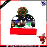 16FZCB06 led hat christmas led beanie caps