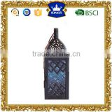 small moroccan metal lantern blue color