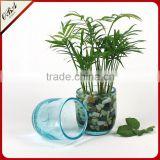 European creative arts small glass cup vase / Handmade Ice crack technology glass flower vase for home decorative