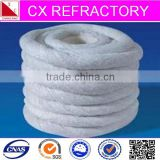 High density twisted ceramic fiber rope