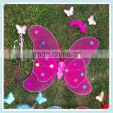 Children Double Layer Butterfly Wings/Headband/Magic Stick Party Performance Supplies costume props princess dance