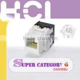 Network Solution Component Level RJ45 Female Connector 90 Degree UTP Cat 6A Keystone Jack