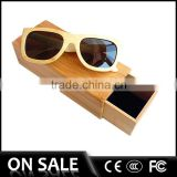 Handmade fashion China manufacturer lots buy natural color polarized cheap wooden eyewear bamboo frame sunglasses