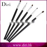 5 Sizes/Set Flat Painting Drawing Pen Nail Art Brushes Acrylic Nail Brush Kit Set
