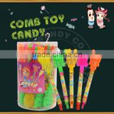 New Comb Animal shape candy toys in PVC jar