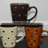 Matt Black Chalk Ceramic glazed mug for US market in stoneware material