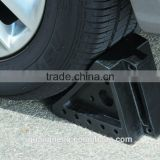 Low Price Products Rubber Bumper Wheel Chock , tyre stoper , Rubber Wheel Chock with Handle