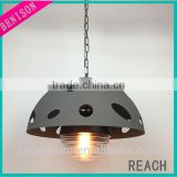 Special Shape Metal Grey Chandelier Simicircular Lampshade Home Decoration