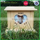 factory price cheap solid wood pet funeral coffin box for sale