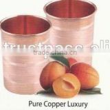 pure copper shiny embossed hamerred water glass