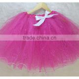 The new solid color sweet bowknot skirts wholesale, wind net tutu skirt yarn bright pink skirt