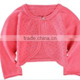 wholesale newborn baby girls pink bolero cardigan sweaters