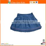 Hot Selling custom denim skirts with lace