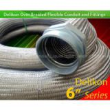 Delikon STEEL MILL WIRING Heavy Series Over Braided Flexible Conduit over braided conduit Fittings for steel mills, coke plants and glass manufacturing cable protection,Heavy Series Flexible Sheath