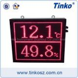 Tinko digital dot matrix date-time wall clock with infrerad remote for office