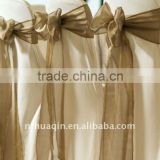 wedding and banquet crystal organza chair sash and tie back