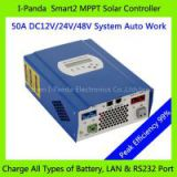 48V 50A SMART2 MPPT solar controller, 50A Solar panel battery charger, with RS232 Lan Charge Vented ,NiCd, Gel