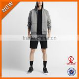 Handsome Young Men Zipper-Up Supreme Hoodie 5% Spandex 95% Cotton Plain Hoodie Wholesale