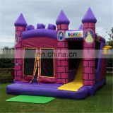 Happy inflatable princess bouncer castle combo