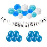it is your birthday banner and paper flowers birthday balloons decorations set party supplies