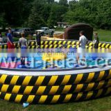 Inflatable jump wipe out sports game for adults in Carnival