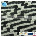 Black and White 100% Polyester Yarn Dyed Coarse Needle Chenille Jacquard Fabric for Sweater
