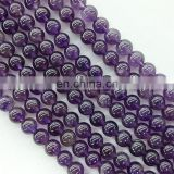 Wholesale fine 10mm round jewelry natural gemstone amethyst bead 10mm amethyst round beads